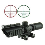 Omega Manufacturing 1.5-5x32 CQB Scope Red/Green Illumination, Range Finder