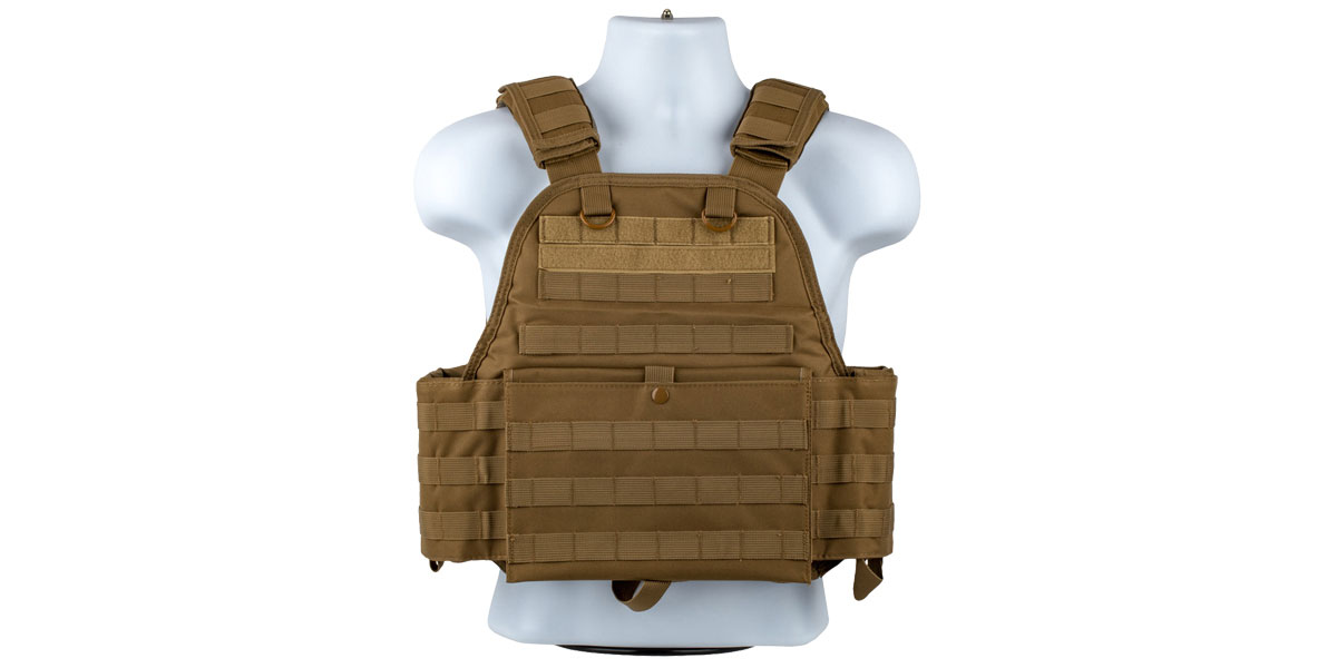 VISM Plate Carrier Vest, Size: Medium-2XL - TAN