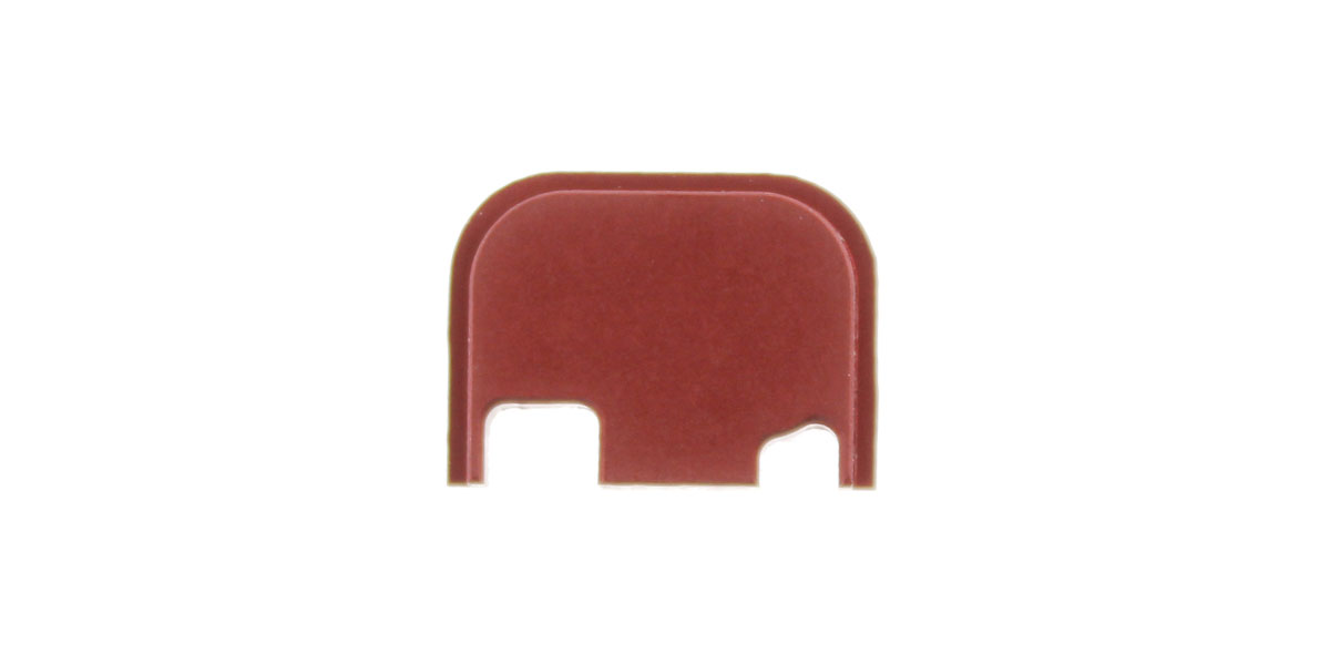 EL Tactical Glock Aluminum Slide Cover Plate Gen 4 - Red Anodized