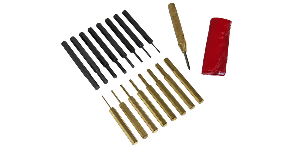 Roll Pin Punch Set w/Carry Bag - 18 Piece Set