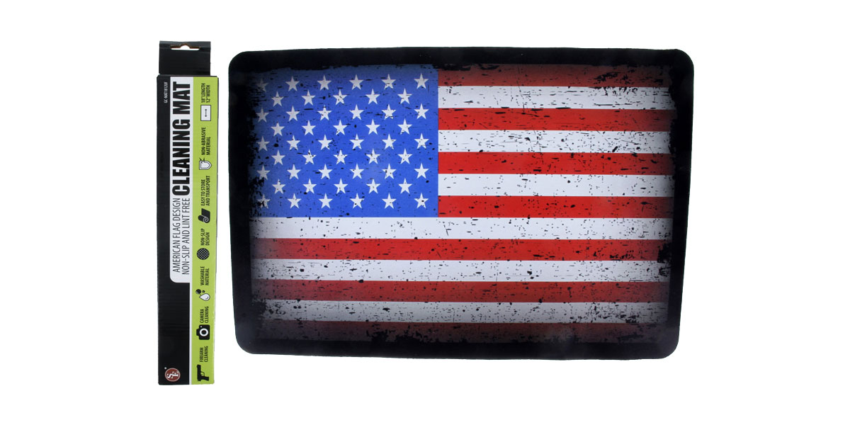 SE Gun Cleaning Non Slip Mat - USA Flag Print
