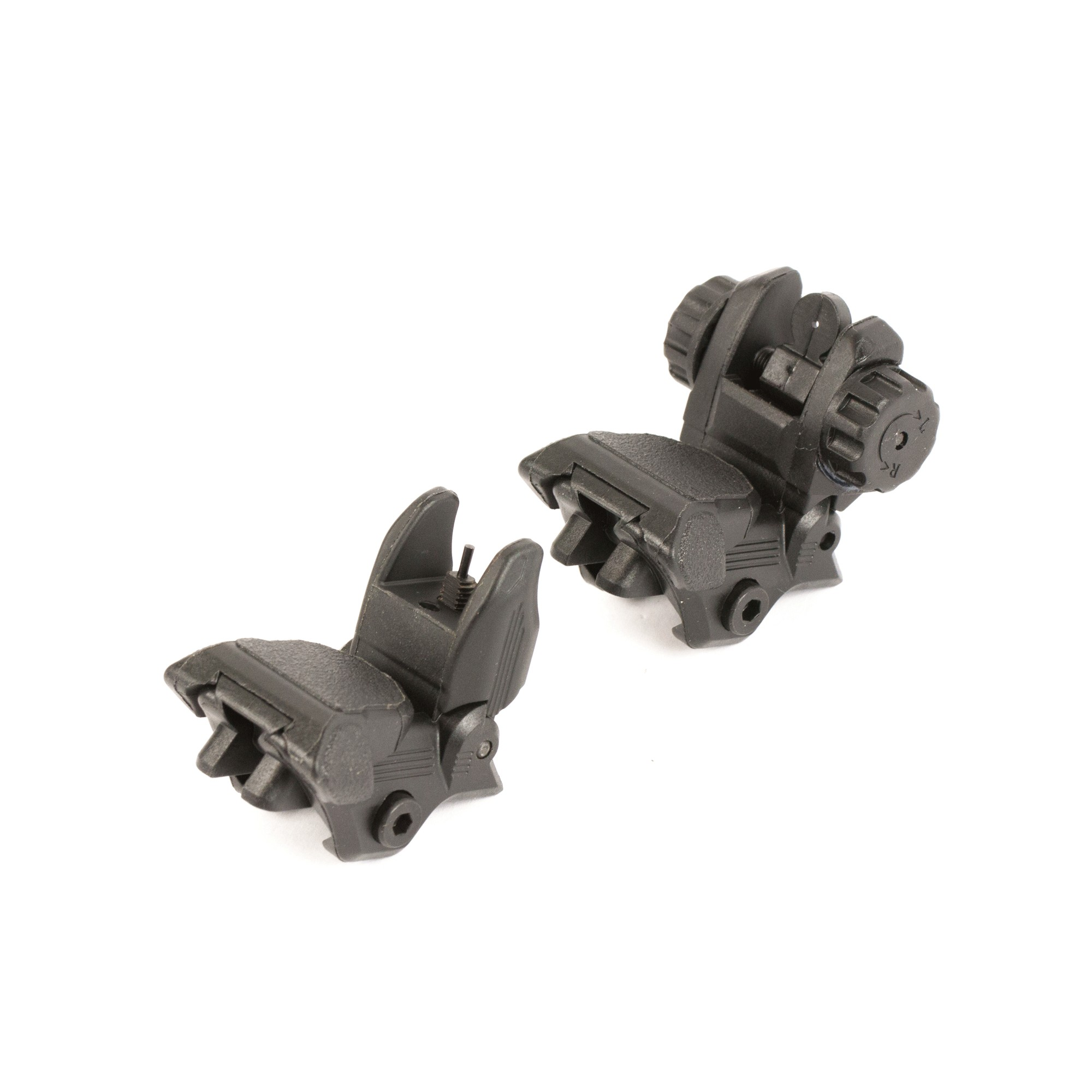 Lakota Ops Polymer Spring Flip Up Backup Sight Set - Black