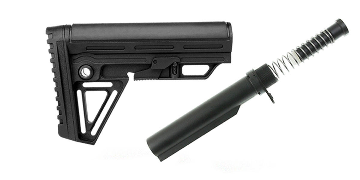 Delta Deals Trinity Force Alpha Combat Mil-Spec Carbine AR-15 Complete Stock Kit w/Buffer Tube Kit