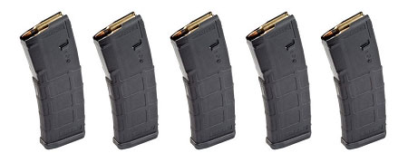**Bulk Deal** 5 Magpul PMAGS 30 Rd GEN M2 MOE 5.56 NATO .223 Rem 300 Blackout  (No Window)