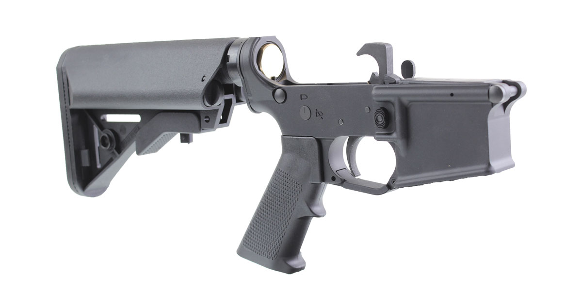 DTT Customs AR-15 Rifle Lower Receiver Build Kit Featuring MMC Armory MA15 Lower Receiver Davidson Defense Buttstock KAK Industries LPK (Assembled or Unassembled)