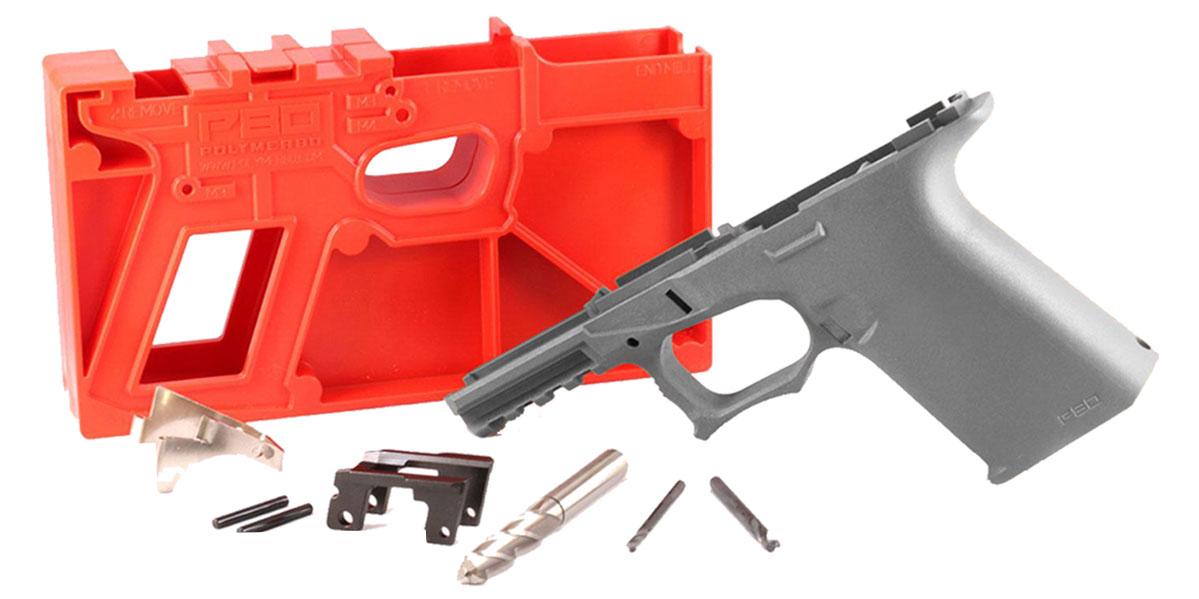 Poly 80 PF940C 80% Compact Pistol Frame Kit - Cobalt