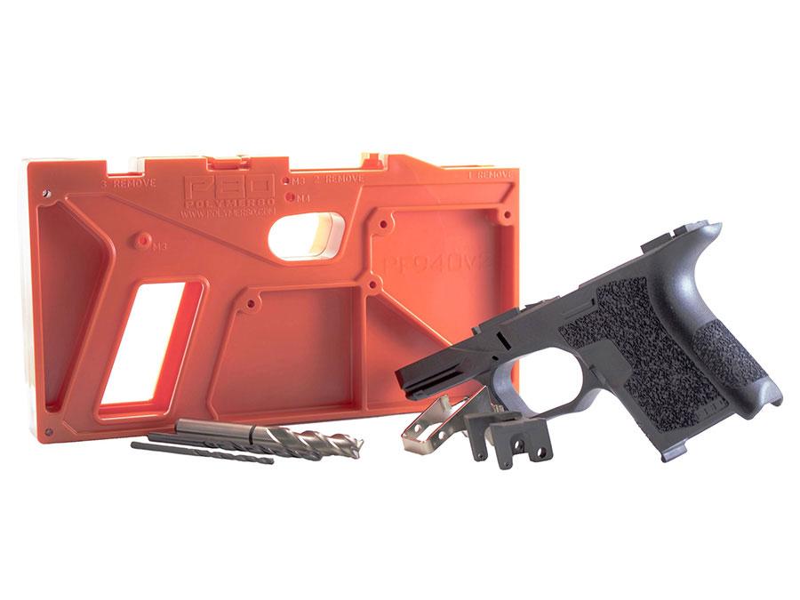 Polymer 80 SubCompac 80% Pistol Frame Kit PF940SC - Black