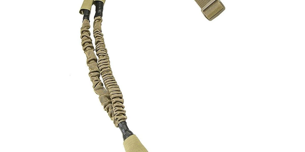 NcStar 1 Point Bungee Sling, Tan with QD Swivel