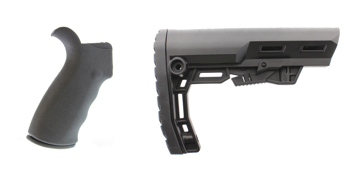 Delta Deals Omega Mfg. AR-15 Rear Beavertail grip, Rubberized Coating + Lakota Ops