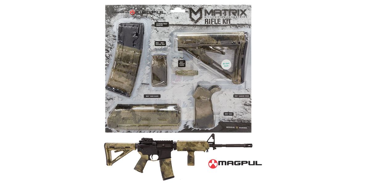 Matrix Diversified Ind. A-TACS AU Camo Pattern Magpul MOE AR-15 Carbine Accessory Kit