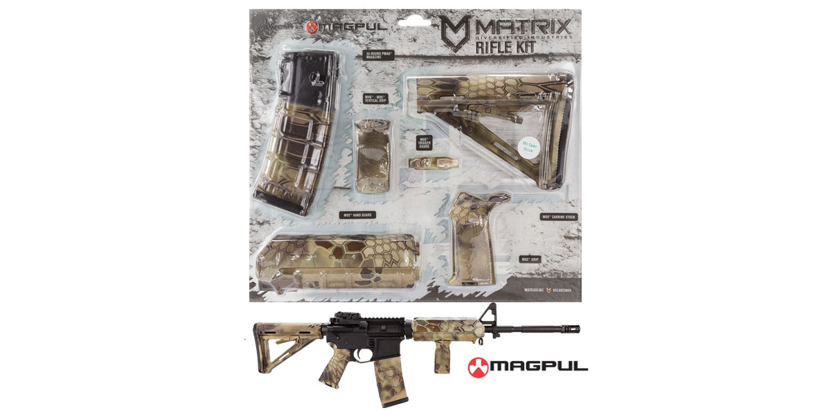 Matrix Diversified Ind. Kryptek Highlander Camo Pattern Magpul MOE AR-15 Carbine Accessory Kit