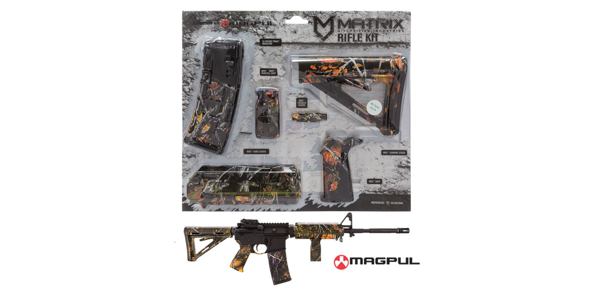 Matrix Diversified Ind. Wildfire Camo Pattern Magpul MOE AR-15 Carbine Accessory Kit