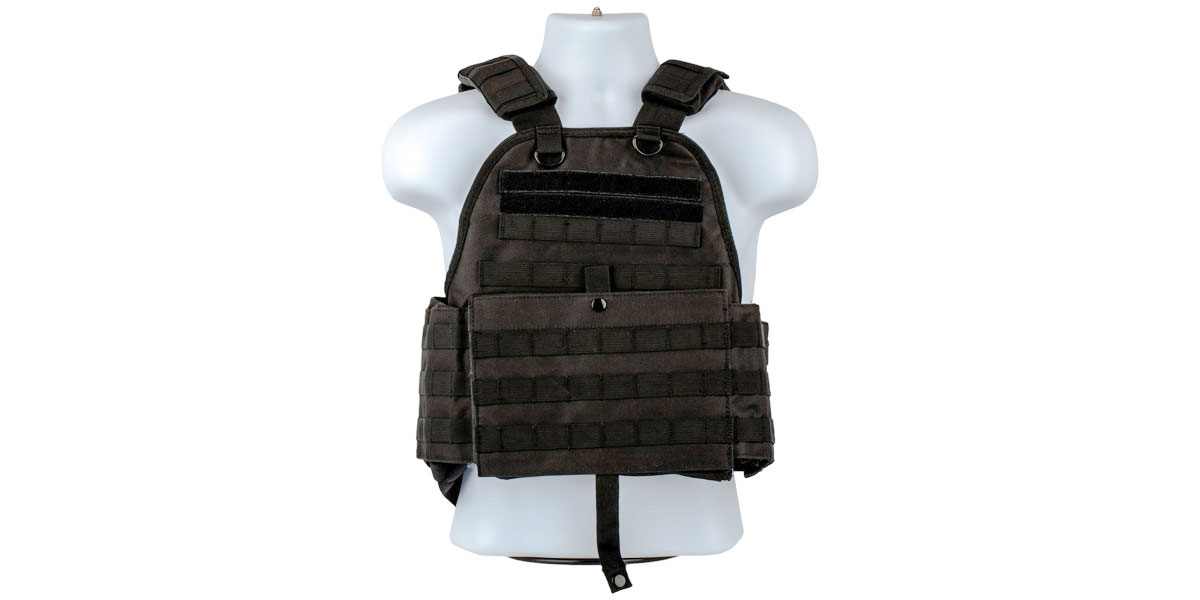 VISM Plate Carrier Vest, Size: Medium-2XL - Black