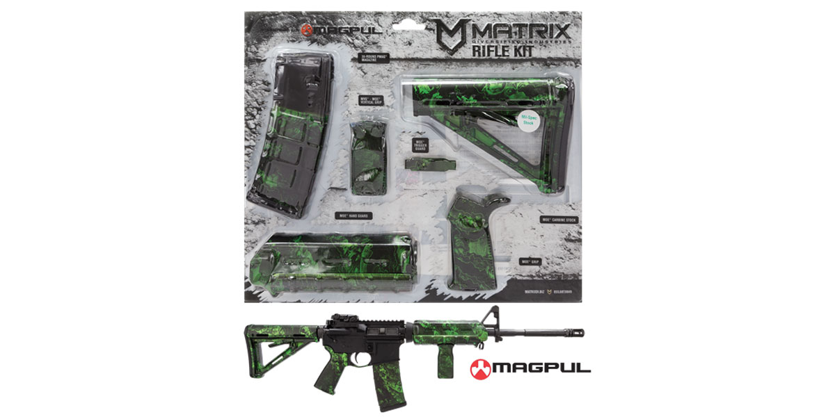 Matrix Diversified Ind. Proveil Reaper Z Green Pattern Magpul MOE AR-15 Carbine Accessory Kit