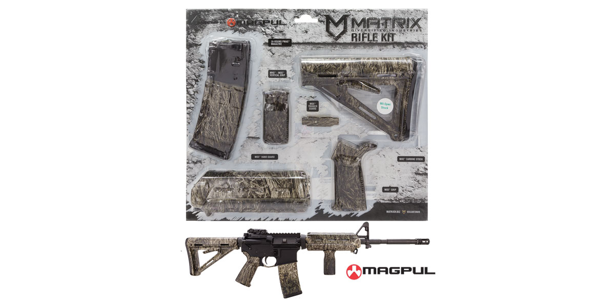 Matrix Diversified Ind. Proveil Digital Ghillie Camo Pattern Magpul MOE AR-15 Carbine Accessory Kit