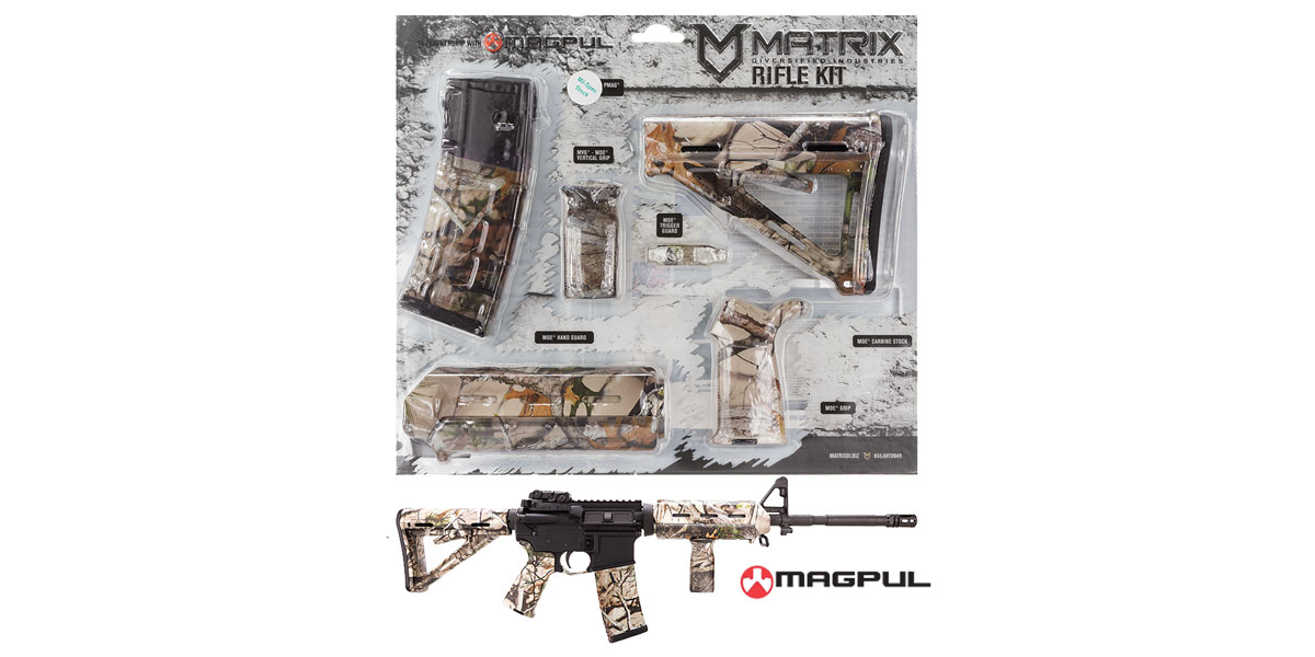 Matrix Diversified Ind. Next G-1 Vista Camo Pattern Magpul MOE AR-15 Carbine Accessory Kit