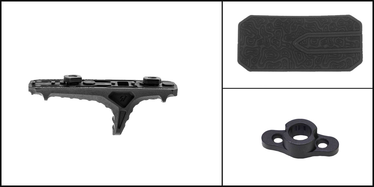 Delta Deals AYB Kits Featuring: Strike Industries LINK Anchor Polymer Hand Stop + Timber Creek Outdoors M-LOK QD Mounting Point + Black Shockwave Adhesive Cheek Pad