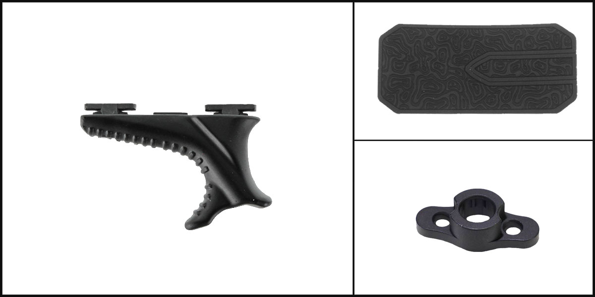 Delta Deals AYB Kits Featuring: Vism M-Lok Hand Stop-Black + Timber Creek Outdoors M-LOK QD Mounting Point + Black Shockwave Adhesive Cheek Pad