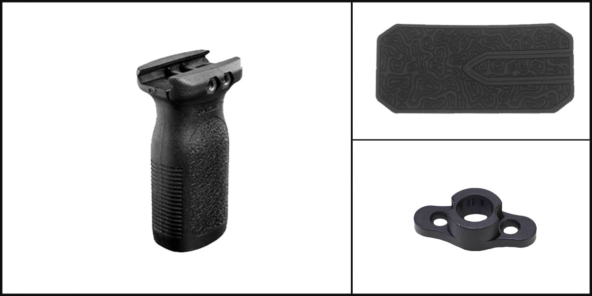 Delta Deals AYB Kits Featuring: Magpul MOE Rail Vertical Grip RVG AR-15 Black Mfg. + Timber Creek Outdoors M-LOK QD Mounting Point + Black Shockwave Adhesive Cheek Pad
