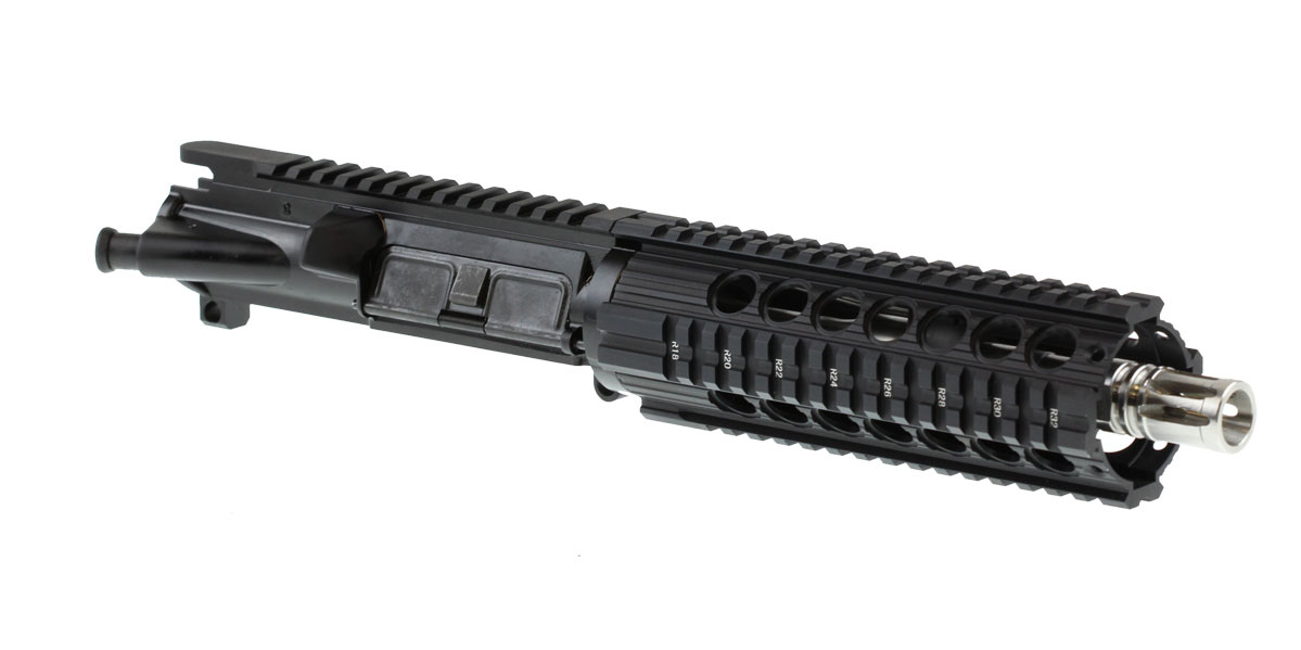 "Davidson Defense AR-15 ""Spike"" Pistol Upper Receiver 7.5"" .223 Wylde Stainless 1-7T Barrel 7.5"" Quad Rail Handguard"