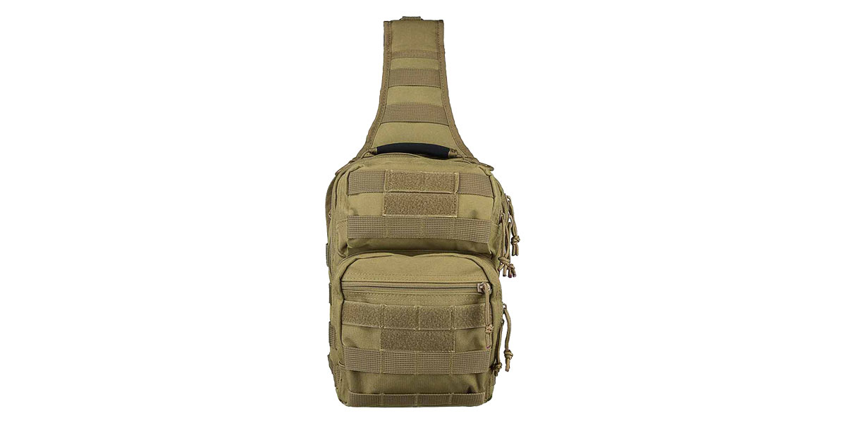 VISM Shoulder Sling Utility Bag - Tan
