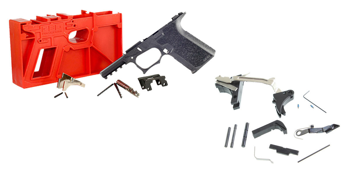 Delta Deals DIY Pistol Kit Featuring: Polymer80 PF940C 80% Compact Pistol Frame Kit - Black + Alpha One Glock Frame Parts Kit