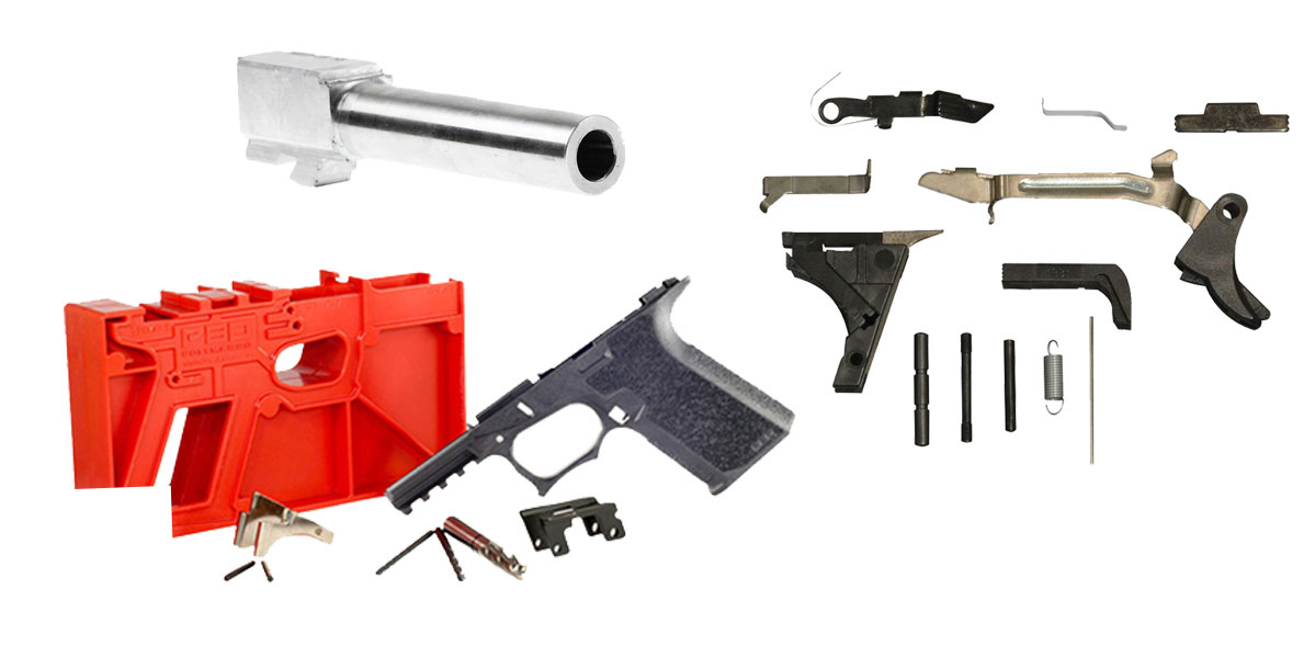 Delta Deals Alpha One Glock Lower Parts Kit + Poly 80 Glock Kit - Black +  Glock 19 9mm Stainless Steel Non-Threaded Barrel