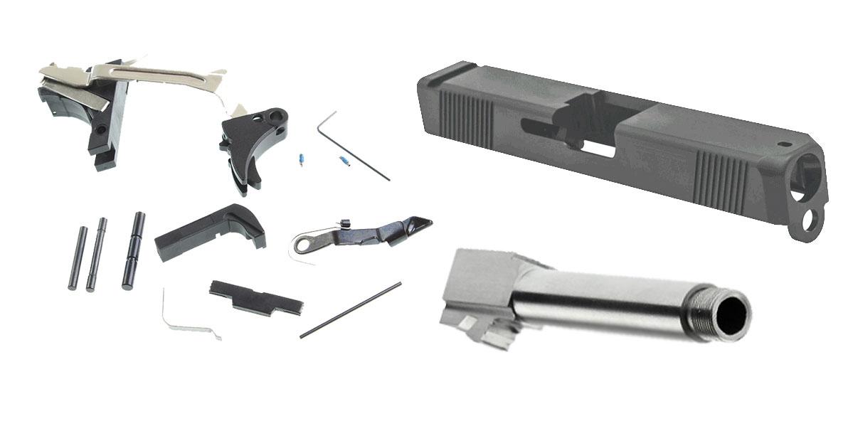 Delta Deals Alpha One Glock Parts Kit + Alpha One Glock Slide + Threaded  9mm Glock Barrel