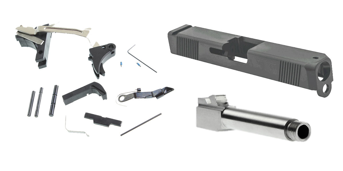 Delta Deals Alpha One Glock Parts Kit + Alpha One Glock Slide + Threaded  9mm Glock Barrel