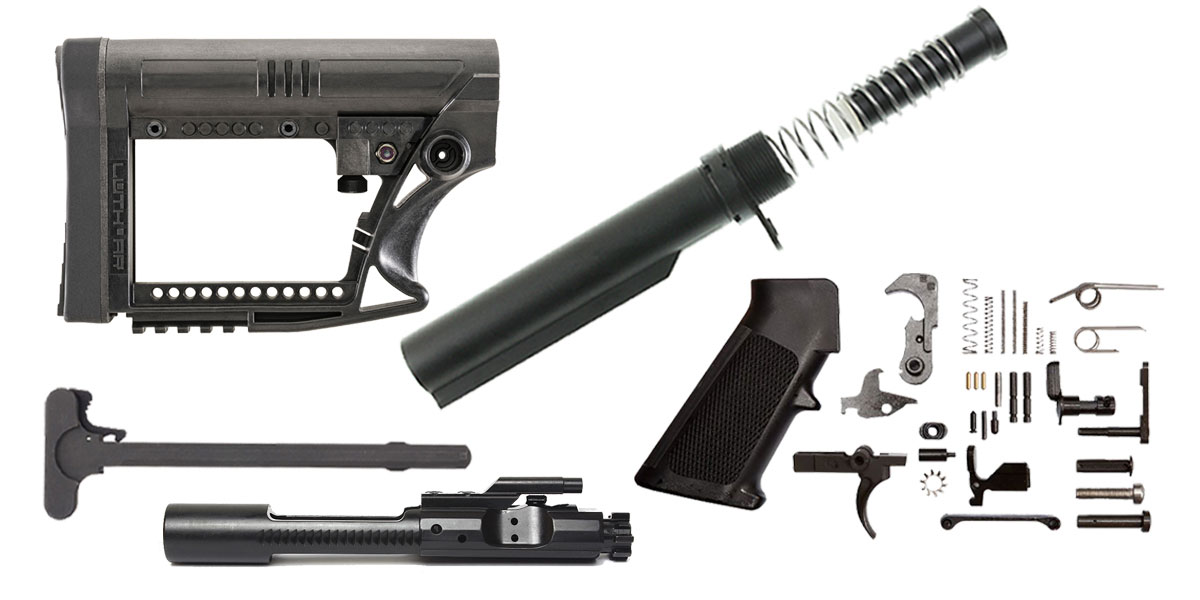 Luth AR MBA-4 Stock AR-15 Finish Your Rifle Kit 5.56/.223/.300 BLKOUT/.350 Legend