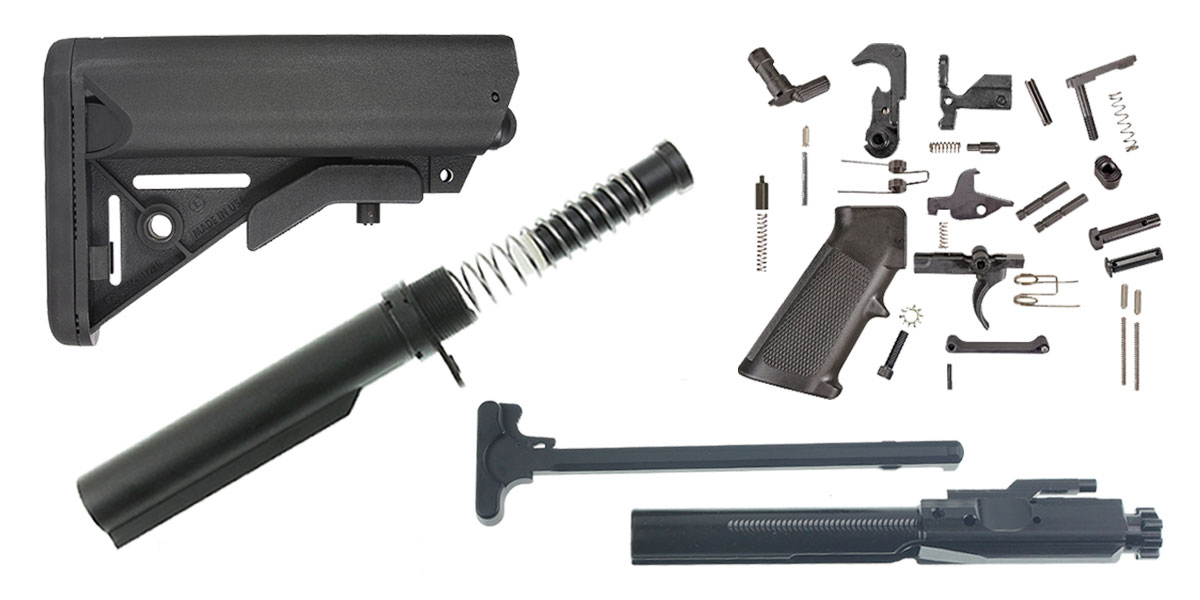 Davidson Defense LR-308 SOPMOD Stock Finish Your Rifle Build Kit - .308 WIN/6.5 Creedmoor/.243 WIN