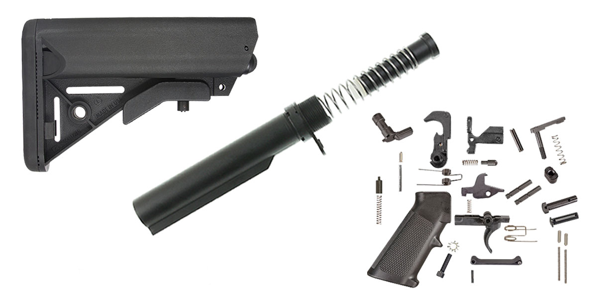 JE Machine LR-308 SOPMOD Stock Finish Your Lower Rifle Kit
