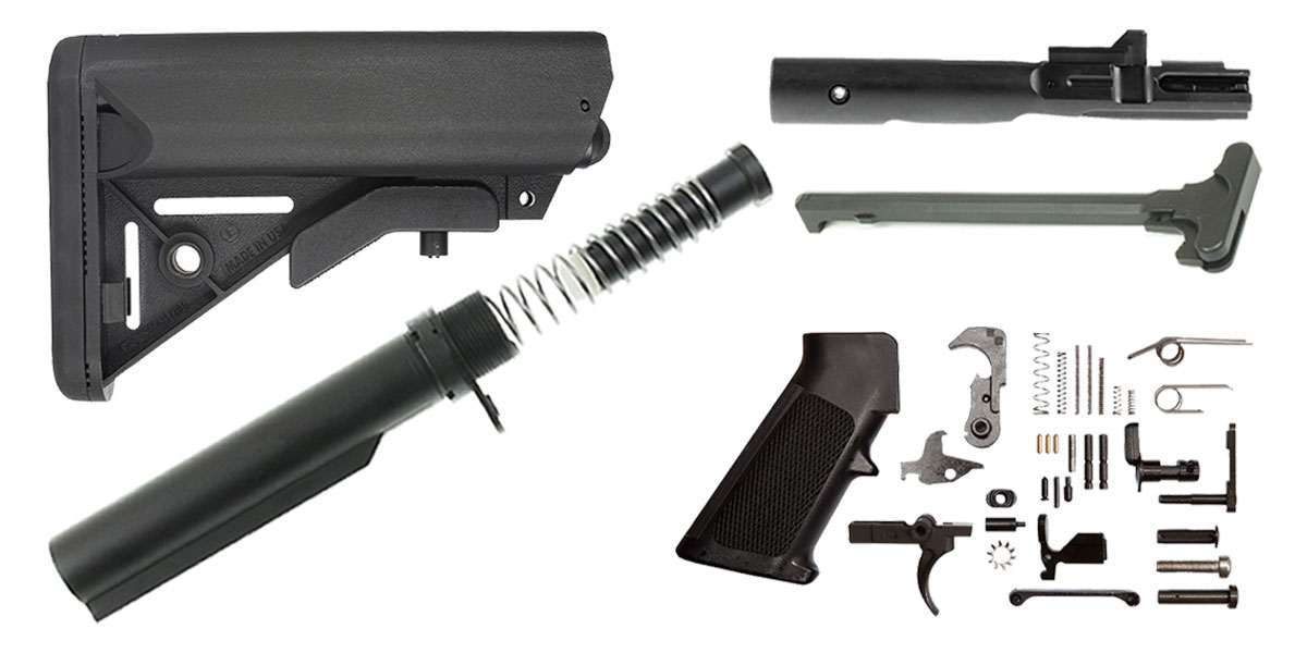 JE Machine AR-15 SOPMOD Stock Finish Your Rifle Kit - 9mm