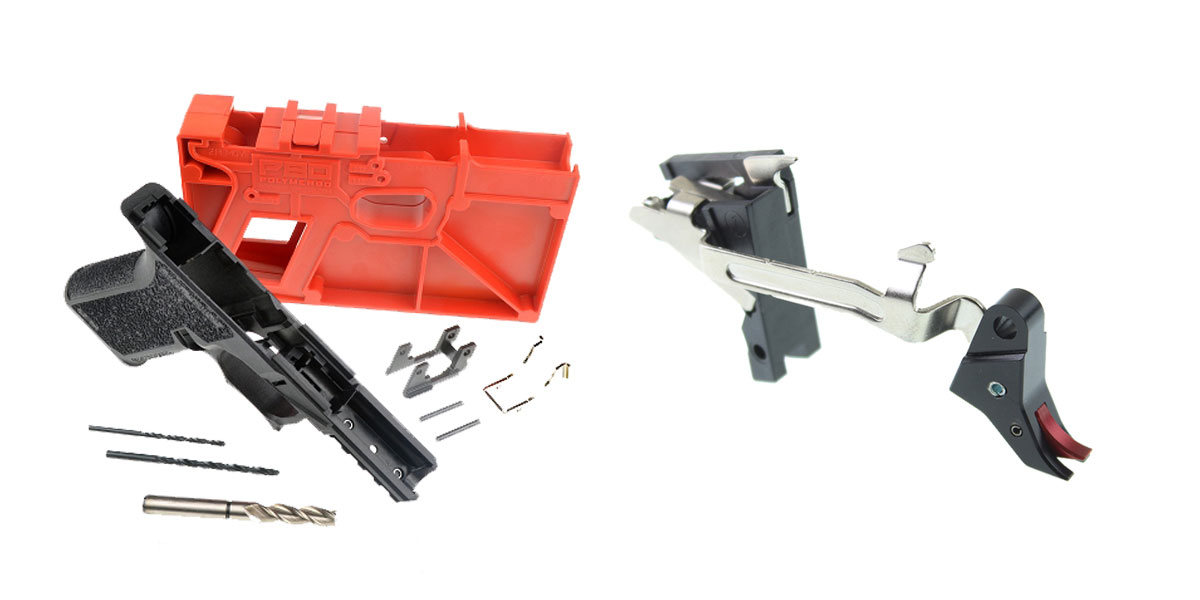 Delta Deals DIY Pistol Kit Featuring: Polymer80 PF940C 80% Compact Pistol Frame Kit - Black + Alpha One Lightning Tap