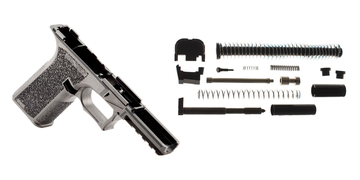 Delta Deals Textured 80% Frame For Glock 17/22/33/34/35 + Alpha One Glock 17 Compatible, Gen 1-3, Slide Parts Kit