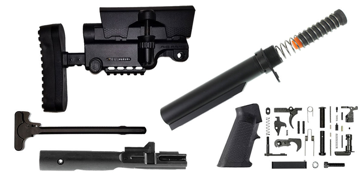 Delta Deals A*B Arms AR-15 Sniper Stock Finish Your Rifle Build Kit - 9mm