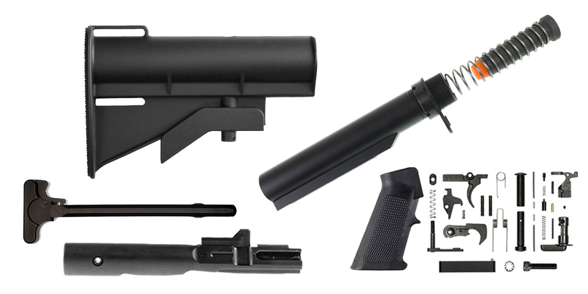 Delta Deals United Defense AR-15 CAR-15 Finish Your Rifle Build Kit - 9mm