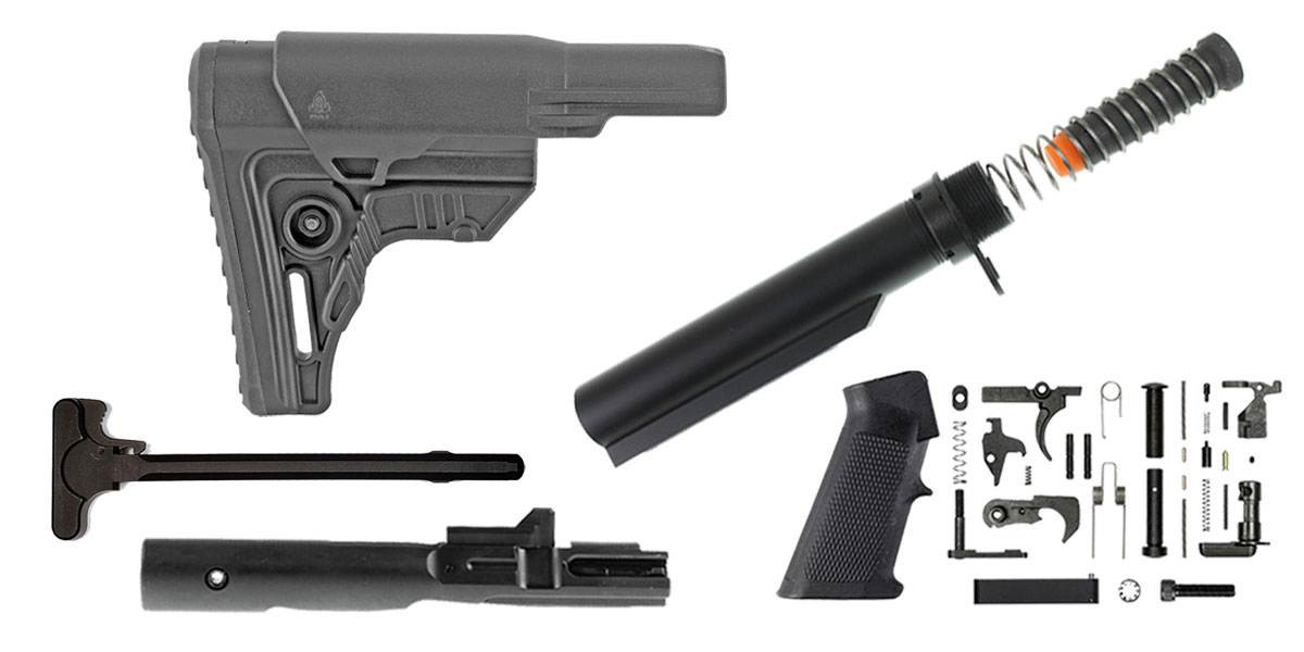 Delta Deals Leapers AR-15 UTG Pro Finish Your Rifle Build Kit - 9mm
