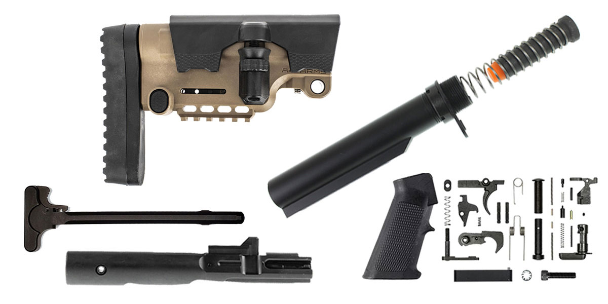 Delta Deals A*B Amrs AR-15 Urban Sniper Stock Finish Your Rifle Build Kit - 9mm