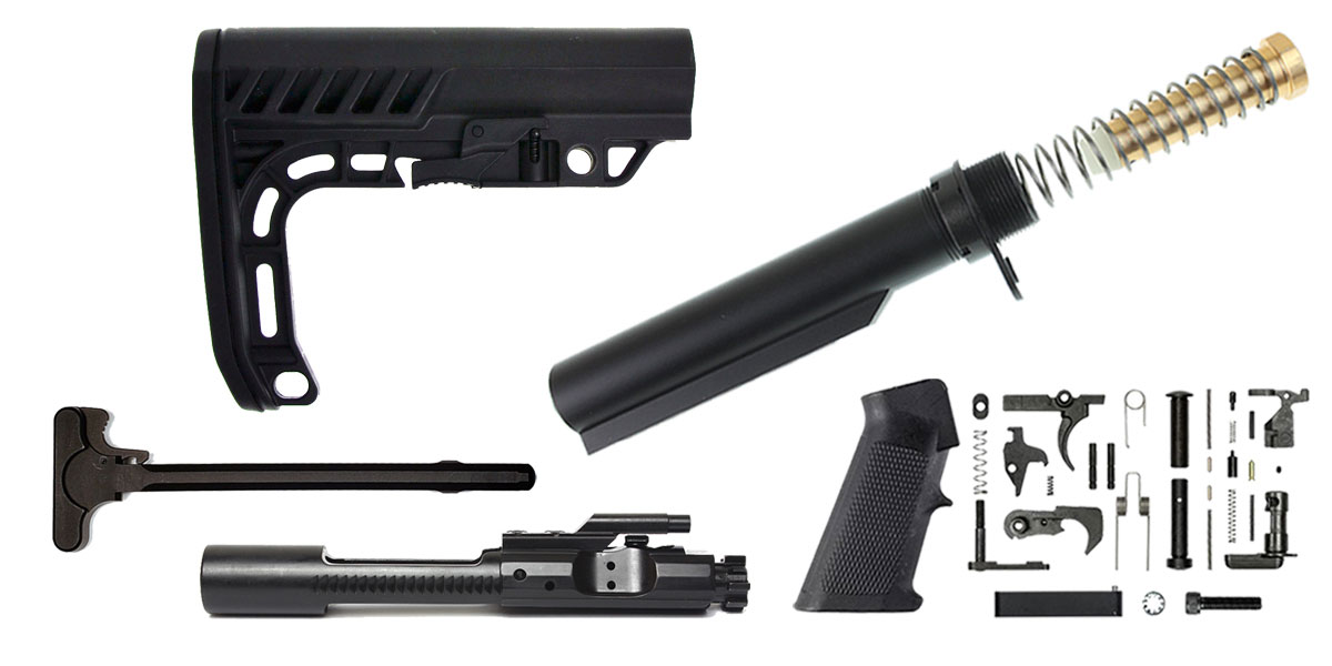 Delta Deals Tactical Superiority  AR-15 Minimalist Stock Finish Your Rifle Build Kit - 5.56/.223/.300/.350