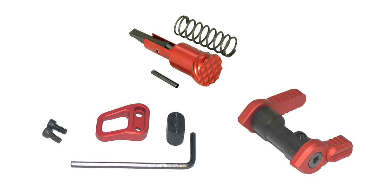 Delta Deals Timber Creek & Armaspec Red Upgrade Kit w/ Safety Selector, Mag Release, and Forward Assist