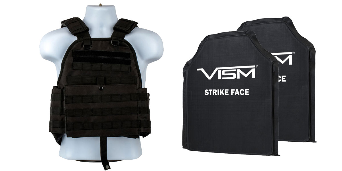 Delta Deals VISM Plate Carrier Vest, Size: Medium-2XL, Black + VISM Soft Panel x2