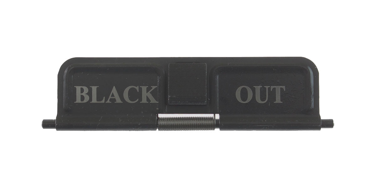 Delta Deals AR-15 Custom Engraved KAK Industries Dust Door - BLACK OUT
