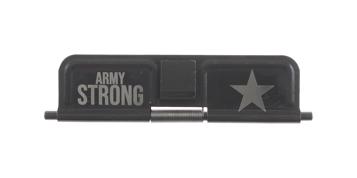 Delta Deals AR-15 Custom Engraved KAK Industries Dust Door - ARMY STRONG