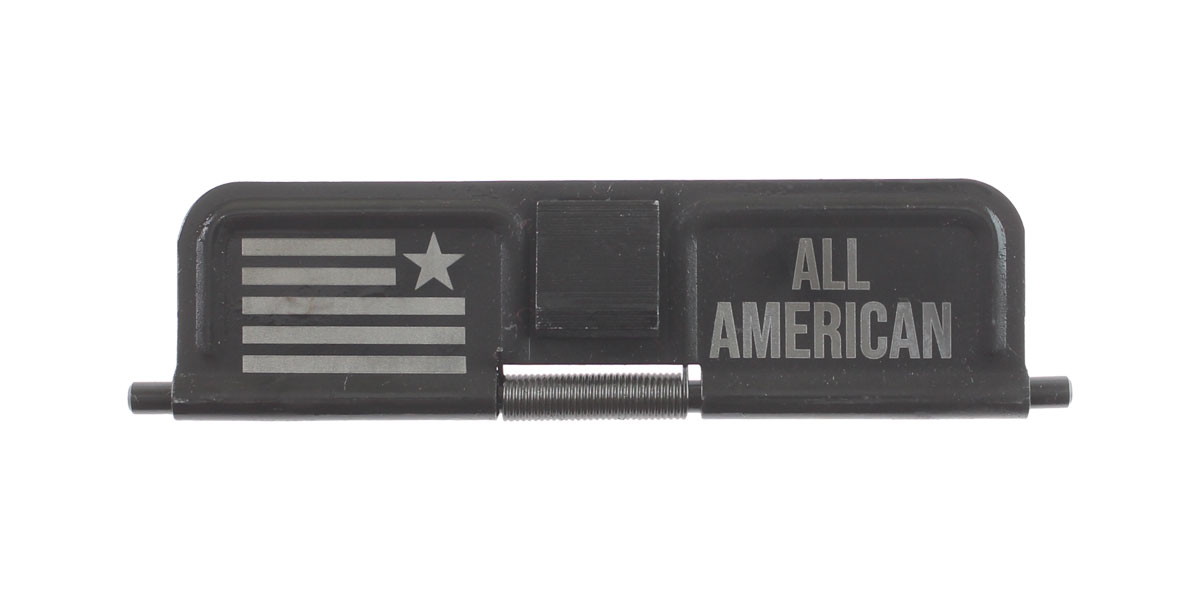 Delta Deals AR-15 Custom Engraved KAK Industries Dust Door - ALL AMERICAN