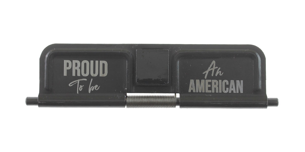 Delta Deals AR-15 Custom Engraved KAK Industries Dust Door - Proud To Be An American