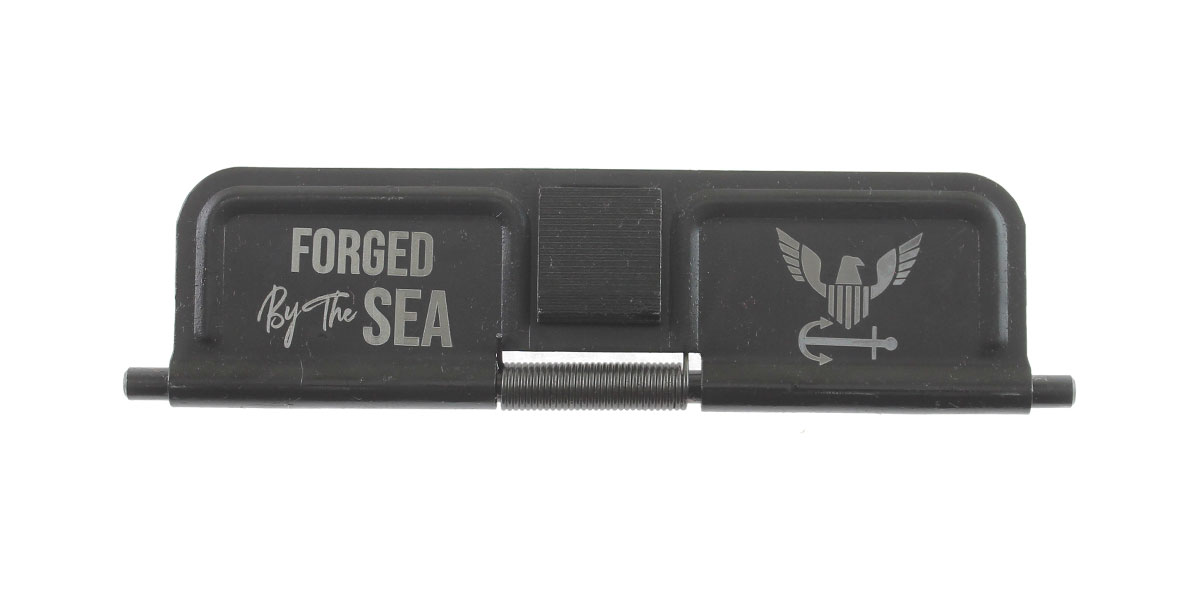 Delta Deals AR-15 Custom Engraved KAK Industries Dust Door - Forged By The Sea