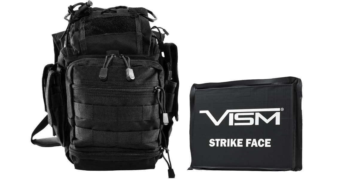 Delta Deals VISM First Responders Utility Bag - Black + VISM Ballistic Soft Panel - 6