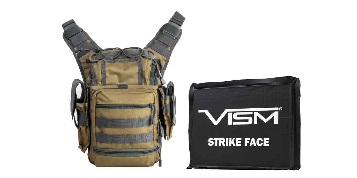 Delta Deals VISM First Responders Utility Bag - Tan w/Urban Gray + VISM Ballistic Soft Panel - 6