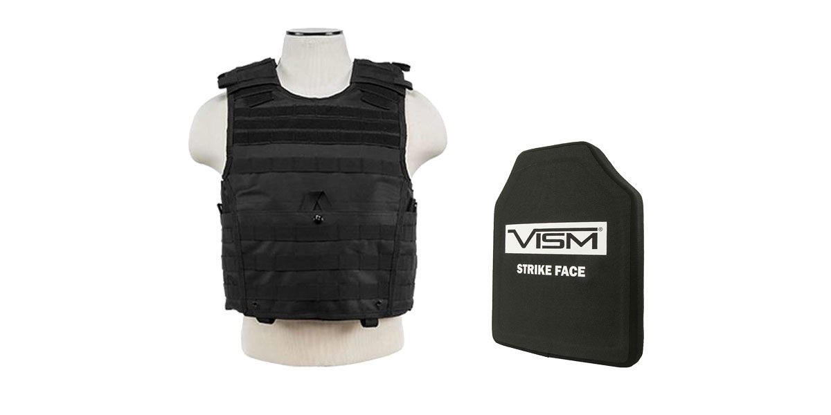 Delta Deals VISM NIJ Level 3 Ballistic Hard Panel + VISM Plate Carrier Vest Only
